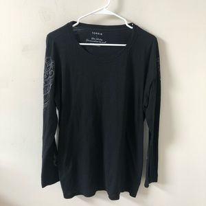 Torrid Black Long Sleeve Top- Size 1